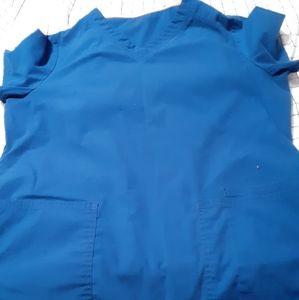 Royal blue scrub set !